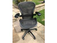 Herman miller aeron size B black and carbon 5 available