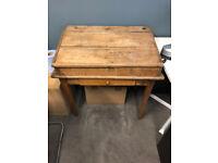 Old School Desk. Wooden Legs.