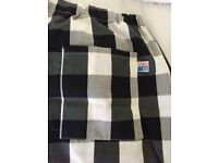 Brand new Tibard Chef Trousers black and white checked unisex. x/large
