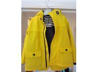 Children's kids nautical yellow & navy raincoat age 3-4 years