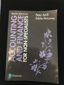Accounting and finance for non specialists book