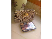 River Island Snakeskin Card/Coin Clasp Purse & New Eyeshadow Palette