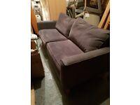 3 seater dark grey sofa
