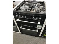 New Graded Leisure 60cm Double Oven Gas Cooker - Black