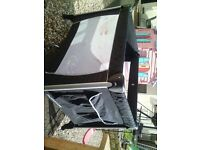 mothercare travel cot in black,