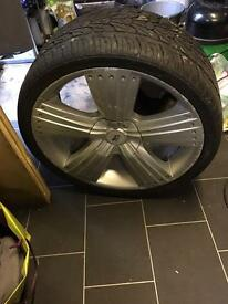 295/30/22 alloy wheel and tyre