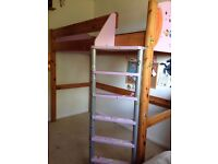 Stompa Combo Kids Highsleeper Bed In Lilac With Desk