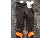 Tough Mudder Under Armour 3/4 tights *new with tags*