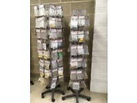 2 Spinning Stands With 800 x £1 packs of hardware