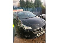 Vauxhall Corsa limited edition damaged repaired
