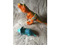 Interactive dinosaur train toys. Big boris and tank