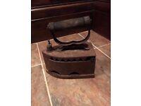 Vintage Antique Cast Iron Coal Iron Door Stop from Russia
