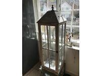 Large lantern style candle holder