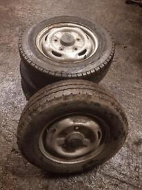 Ford Transit 5 stud wheels and tyres