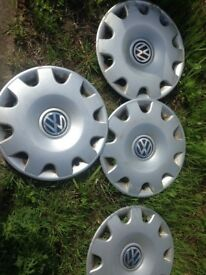"4x15"" Volkswagen Wheel Rims/Hubcaps. Golf, Polo, Tauran, Caddy"