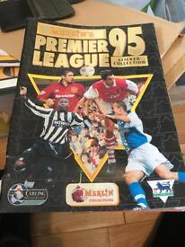 Premier league 1995 sticker collection