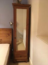 Ikea Leksvik Single Mirrored Wardrobe