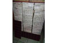 Bathroom kitchen ceramic wall tiles joblot 25 boxes. 20cmX50cm