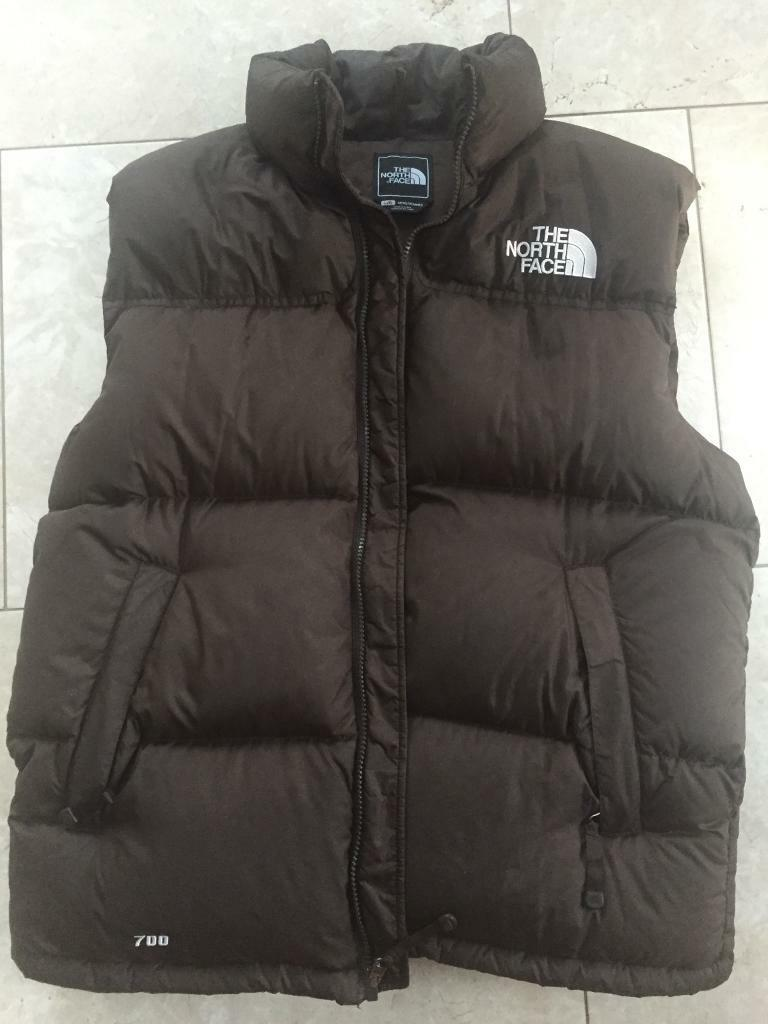 North Face 700 Down Filled Gilet Bodywarmer Large