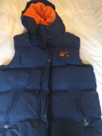 BRAND NEW SUPER DRY GILET BODY WARMER IN BLUE SIZE 40 -
