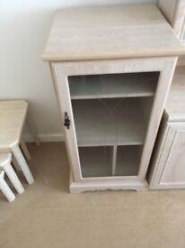 Limed Oak Hi Fi Cabinet