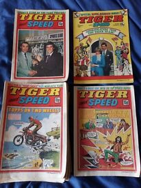 Tiger and Speed comics - 1981 - used condition