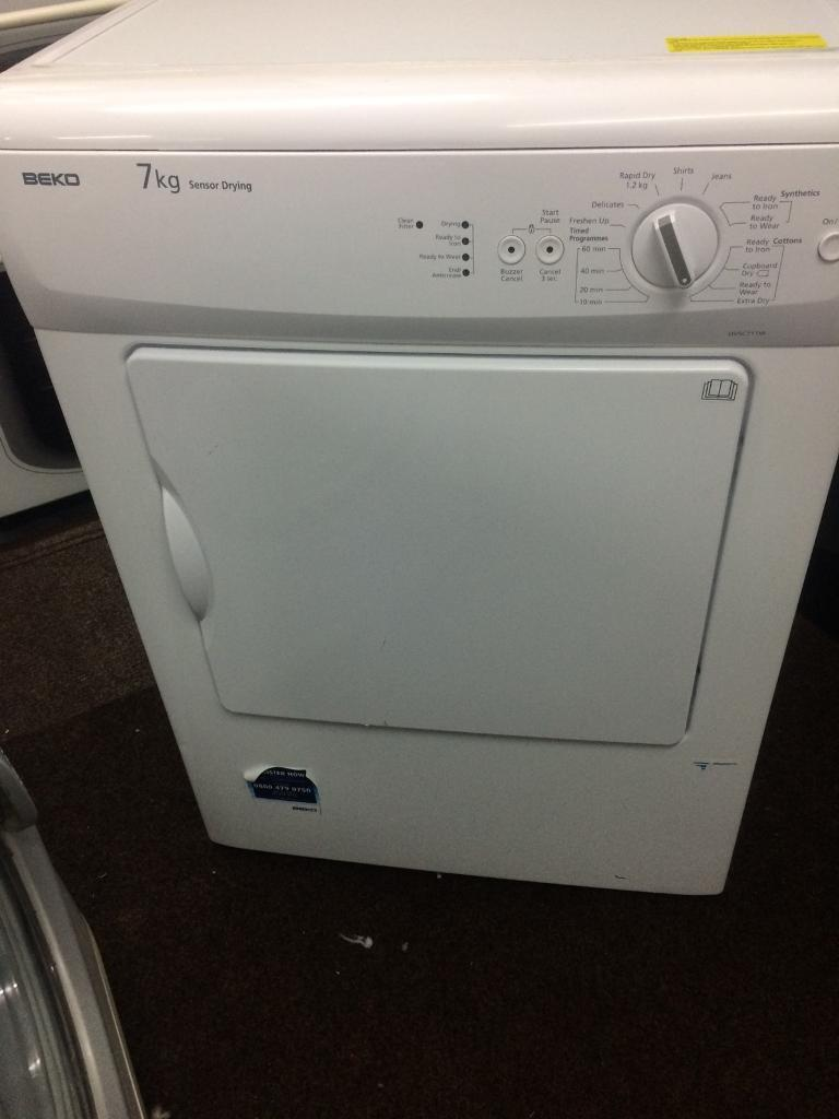 White beko 7kg dryers good condition with guarantee bargain