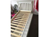 M&S white single beds with drawer