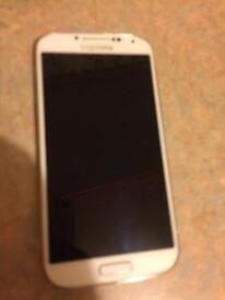 Samsung S4 white unlock good condition