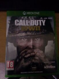 Xboxone call of duty ww2 good condition never play it looking for a good offer