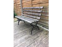 victorian cast iron bench / originaly from side of bowling green in wigan £55
