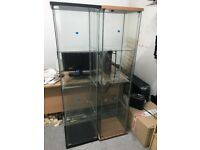 Display Glass Cabinet (2 Display Cabinets With 3 Of Each Glass Shelves)
