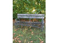 Antique Strapwork/ Wrought Iron Bench in need of Restoration
