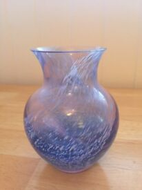 Caithness Glass Vase, beautiful shades of blue, stands 5 inches tall