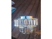 Pair of Clear Perspex Light Fittings for Sale
