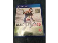 MADDEN NFL 15 PS4 game in good condition