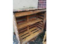 Wooden log store