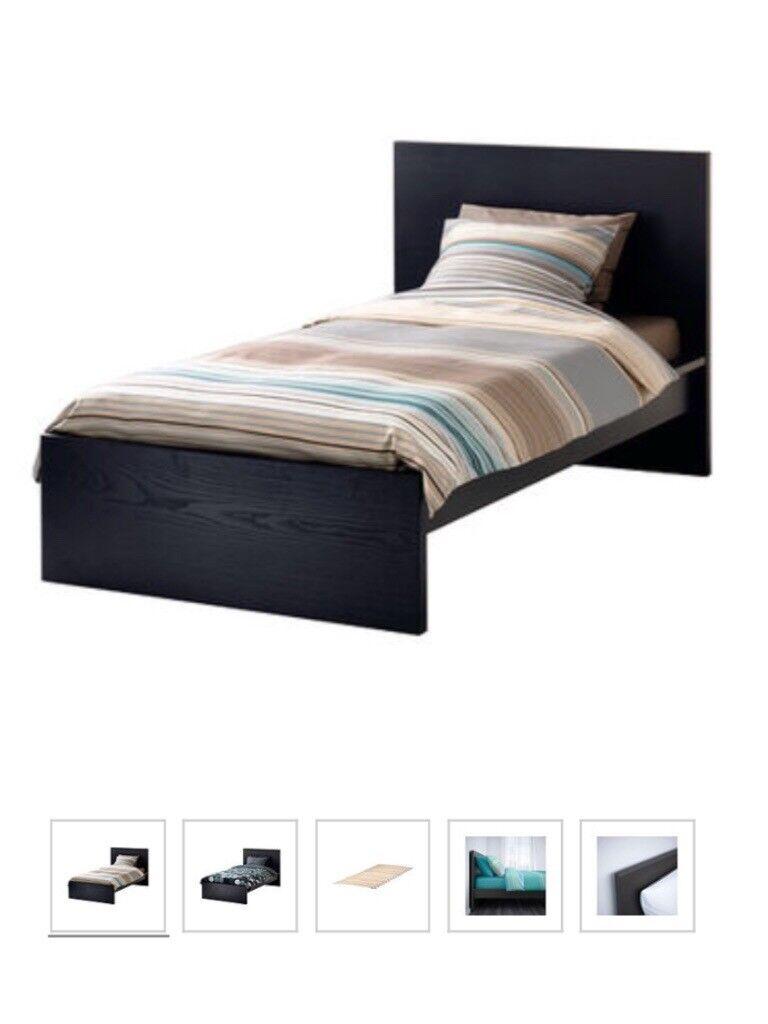 Ikea Malm Standard Single Bed Black Brown In Welwyn Garden City