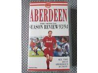 Aberdeen FC - Season Review 93/94 - VHS Tape - RARE
