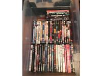 Approximately 90 DVD's, various types, comedy, horror, GAMES, soaps, thrillers etc..