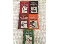Selection of Diary of a Wimpy Kid books