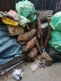 Seasoned logs ready splitt