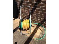 Garden hose c/w portable hose reel