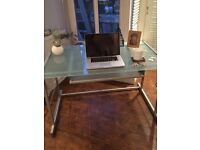 John Lewis glass desk with pull out shelf