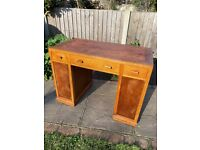 Lovely original Peter Jones pedestal desk (wood)