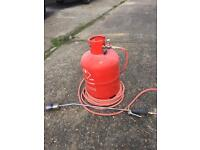 Gas barrel and roofing torch