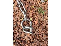 Heavy duty stainless steel chain.