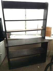 Medium wooden shelving unit, good for CDs, DVDs, Videogames and Kitchenware