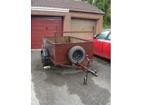 6x4 Car Trailer. Wood Panelled. Light Board. New Wheel Bearings 2016. £200.