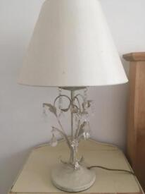Table lamps x2 cream shabby chic Dunelm Mill